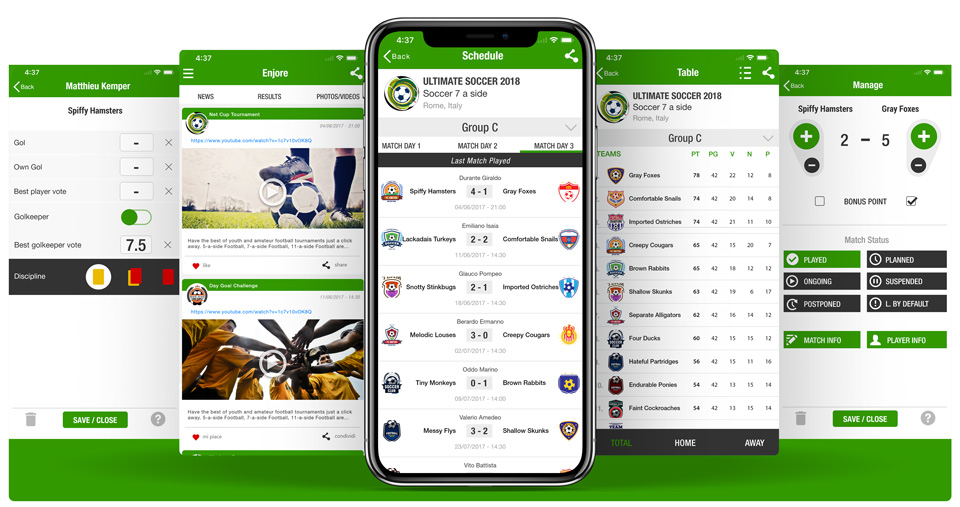 App for leagues and tournaments