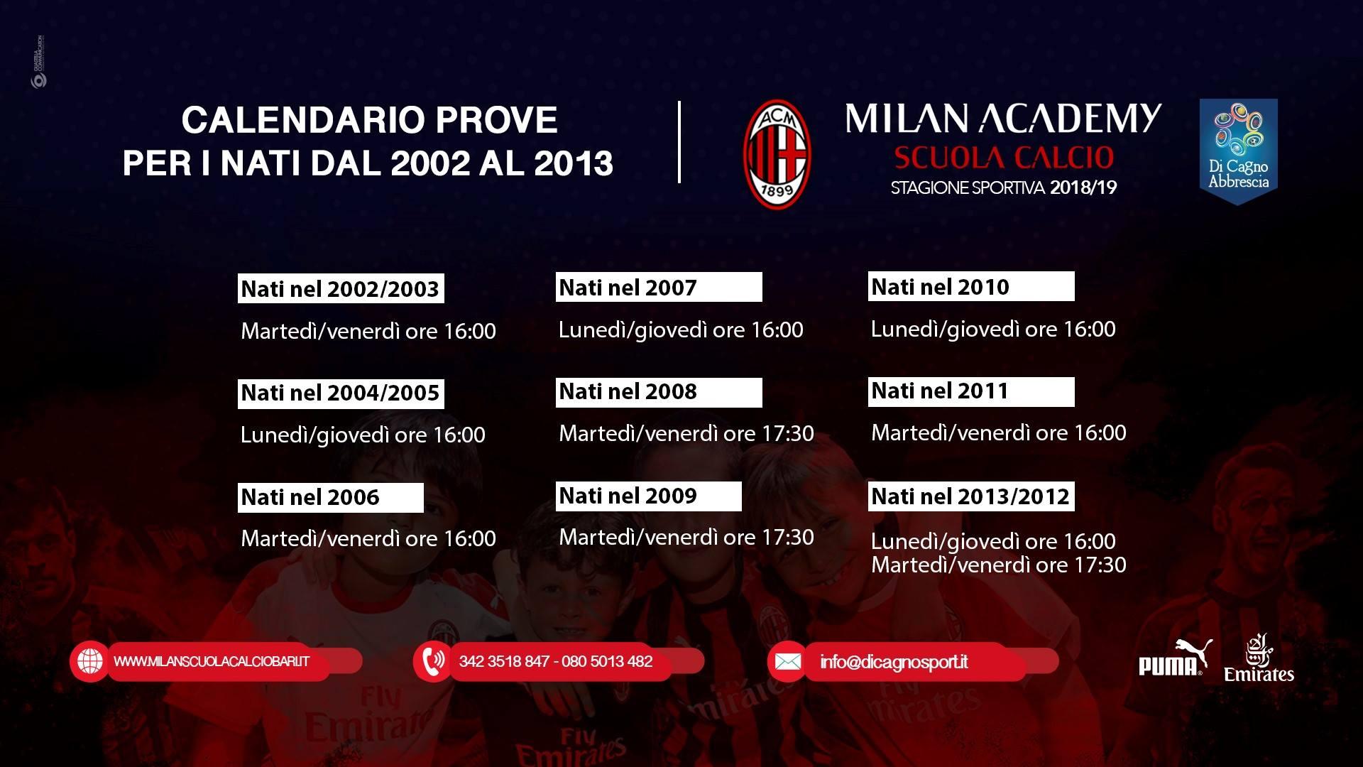 Bari Calcio Calendario.Al Via Le Iscrizioni Per La S S 2018 19 Della Scuola Calcio